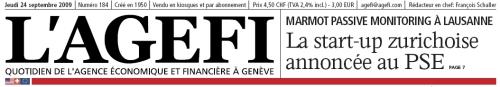L'AGEFI titlepage